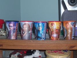 Avengers cups 2 by GoldenAltaira