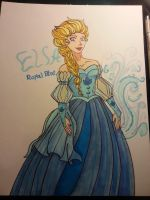 Elsa Royal Blue by 1angel0wings1