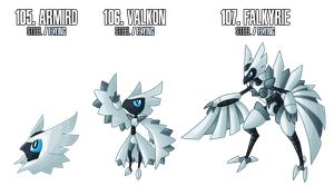 Fakemon: 105 - 107 by MTC-Studio