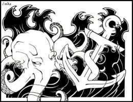 Octopus with an Anchor by CakeKaiser