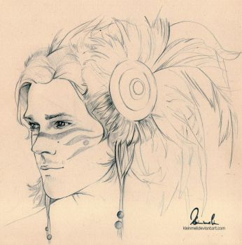 Warrior Sam Winchester by kleinmeli