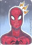 Spiderman Sketch Card by keelhaulkate