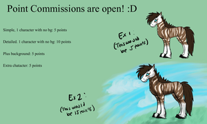 Point Commissions are NOW open by wolf-drawer-kayla