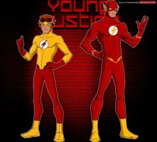 Young Justice: Flash and Kid Flash by YorkeMaster