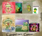 Comparison Canvas: Ludicolo by jesseuhhyeah