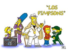 """Los Pimpsons"" by inspectorholmez"