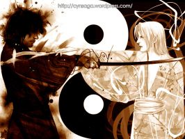 The Deer and The Crow: YinYang by cynthiafranca