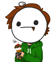 Cry Eating An Ice Cream Cone Sundae by redrumprince