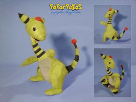 Ampharos papercraft by Lyrin-83