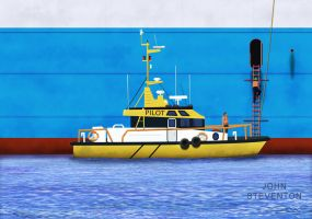 Pilot Boarding Ship by Steventon