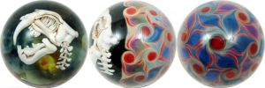 Sabertooth Skull Marble by wickedglass