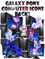 MLP - Galaxy Pony My Computer Icon Pack by Julunis14