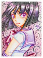 Crayola Crayon Sailor Saturn by LemiaCrescent