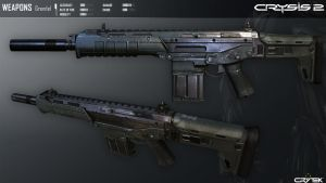 Crysis 2 Mk24 Grendel Assault Rifle by Scarlighter