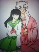 Inuyasha and Kagome by MerMerNui