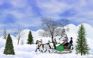 Christmas Sleigh Ride by Frankief