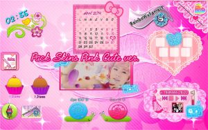 Pack Skins Xwidget Cute Pink Ver by RainboWxMikA