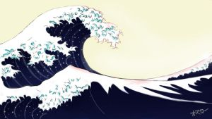 japanese waves by lilkao