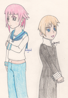 Sealand (Hetalia) and Crona (Soul Eater) by SwiftNinja91