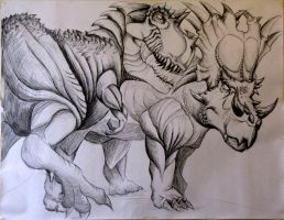 Giant Dino Drawing by TheFranology