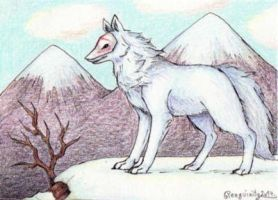 ACEO - The Mountain Myth by Penguinity