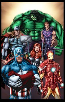 Avengers Assemble by ChrisSummersArts