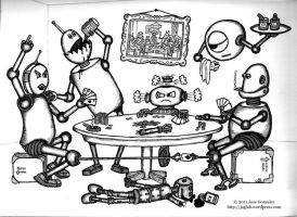 Robots Playing Poker by gonzalexx1