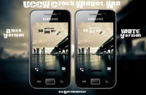 UCCW Britty Rock Clock Widget by Dorfmeist3r