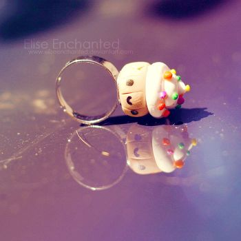 Happy cake ring by EliseEnchanted