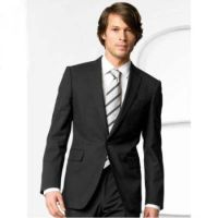 Mens Stylish one button black suit by mensusasuits