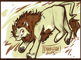 Style Experiment. And a Lion. by TheGreatHushpuppy