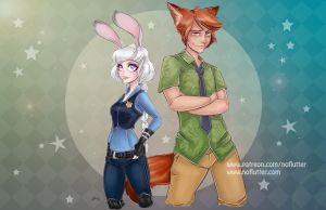 Judy and Nick by NoFlutter