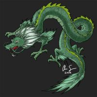 Green Dragon by osx-mkx