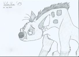 Ed Hyena Sketch by YalociYena
