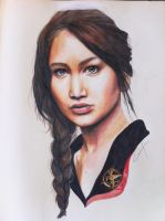Katniss Everdeen 'the girl on fire' by Alimac