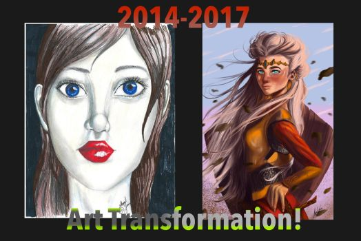 2014-2017 Art Transformation MOTIVATION! by CreativeTouchArt