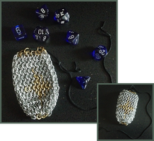 Chainmail Dice Bag by LittleFireDragon