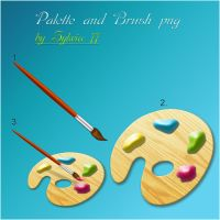 Palette and Brush - png by Sylwia77