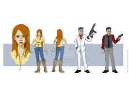 Game dev characters by BobTibo