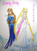 Beautiful Aurora + Serenity by Prince-Endymion