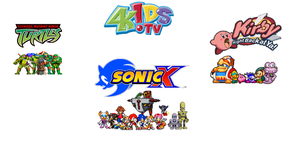 4Kids's Most Famous Tv Shows by sonicmechaomega999