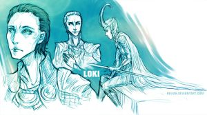 Loki sketches by Reliah