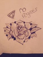 Tattoo rose by xChloeAnnx