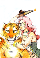 Pirate and Tiger by yuvana