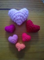 Amigurumi Hearts by KiYtZiA