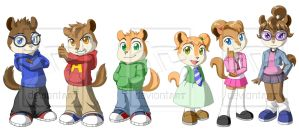 The Chipmunks and Chipettes by Pak009