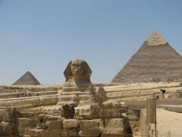 Pyramids and Sphinx by TheEndWhereIBegin