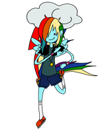 Rainbowdash in Adventure Time! by beauonther