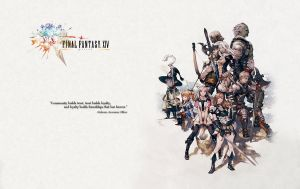 Final Fantasy XIV Wallpaper by haomaru87