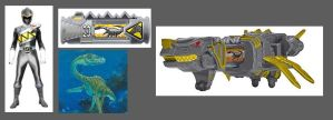 Dino Charge Steel Ranger by Greencosmos80